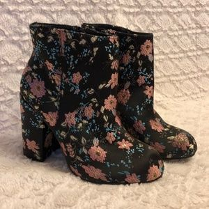 Torrid Floral Embroidered Booties 12W